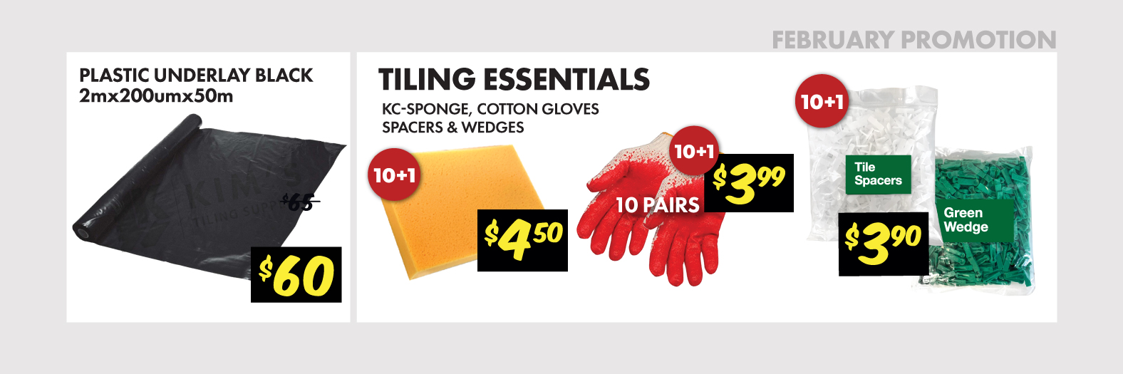 Glue and Tiling Tools Clearance